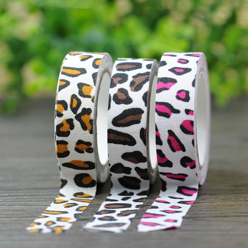 Leopard Foil Washi Tape Kawaii Scrapbooking Tools Japanese Stationery  Adesiva Decorativa Tapes School Office Supply(