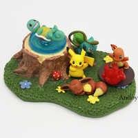 Dessin animé Eevee Bulbasaur Charmander écureuil Q Version poupée PVC à collectionner Figure jouets 5 pièces/ensemble 1-3.5cm