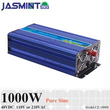1000W 48VDC Off Grid Inverter, Surge Power 2000W Pure Sine Wave Inverter for 110VAC or 220VAC Home Appliances