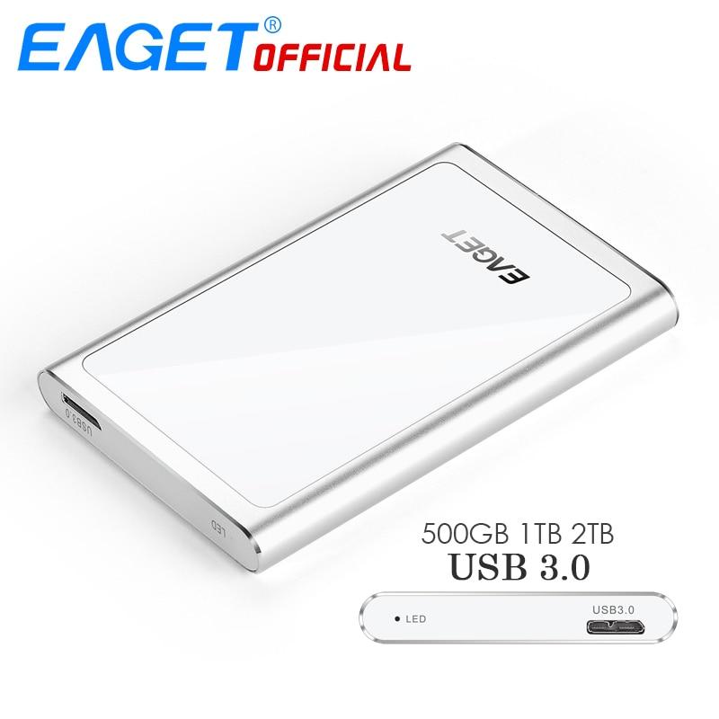 EAGET HDD 2.5 Disques Durs Externes 1 TB USB 3.0 Haute Vitesse 500 GB 2 TB HDD Mobile Disque Dur Antichoc De Bureau pour PC Portable Tablet