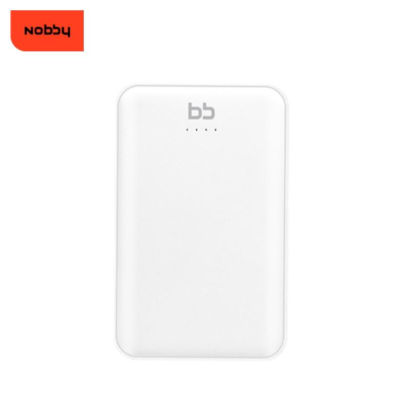 Power bank Nobby 10000mah 008-001 2USB white 803 001 524 014 средняя