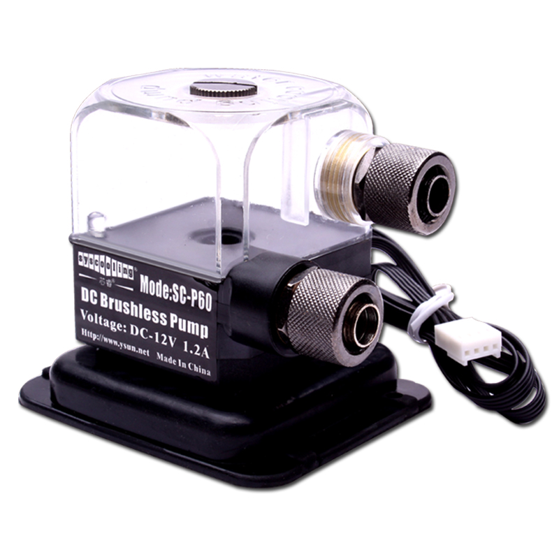 Syscooling  450L/H Brush-less DC 12V  25DB  MCU  SC-P60 Water Pump LED  PC Cooling System!!! 8 l min electric diaphragm 12v dc mini air pump brush