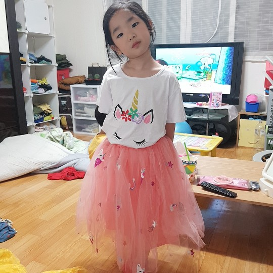 Girls Unicorn Dress Clothing Sets for Summer photo review