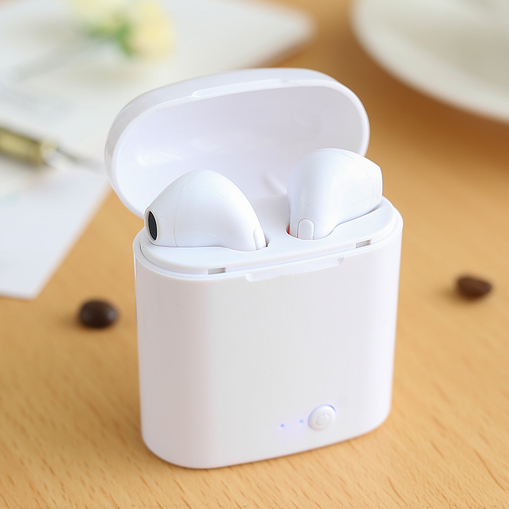 Gu Yue Bluetooth Earphones Wireless Earbuds I7 TWS Headset Double Twins Stereo Music for Apple IPhone 6 Samsung Android Xiaomi