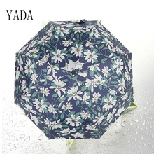 YADA New light Elegant Lily Umbrella Anti Ultraviolet Black Glue Folding Sun Proof mbrella DB029