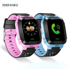 Children Anti-Lost GPS Smart Watch Kids SOS Call Location Tracker Wristwatch Baby Girl Boy Safe Guard English Russian Languages