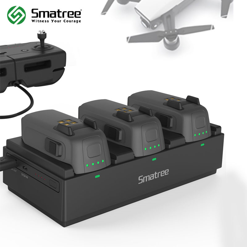 Smatree 92Wh Portable Power Station Charging Hub for DJI Spark Battery Charge 3 Flight Batteries Simultaneously