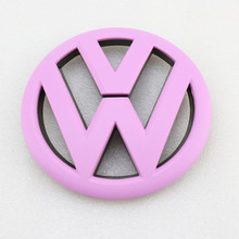 Pink Front Grille Grill Badge Replacement Emblem VW Logo Sticker for Volkswagen Tiguan