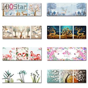 by Numbers Art-Paint Canvas Decoration NEW for Home-Dector Gift DIY Household 3pcs/Set