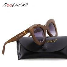 BUENA VICTORIA Retro de Gran Tamaño gafas de Sol Mujer Cateye Gafas de Sol de Marco Grueso Marca Gafas Mujer UV400 Gafas de Sol
