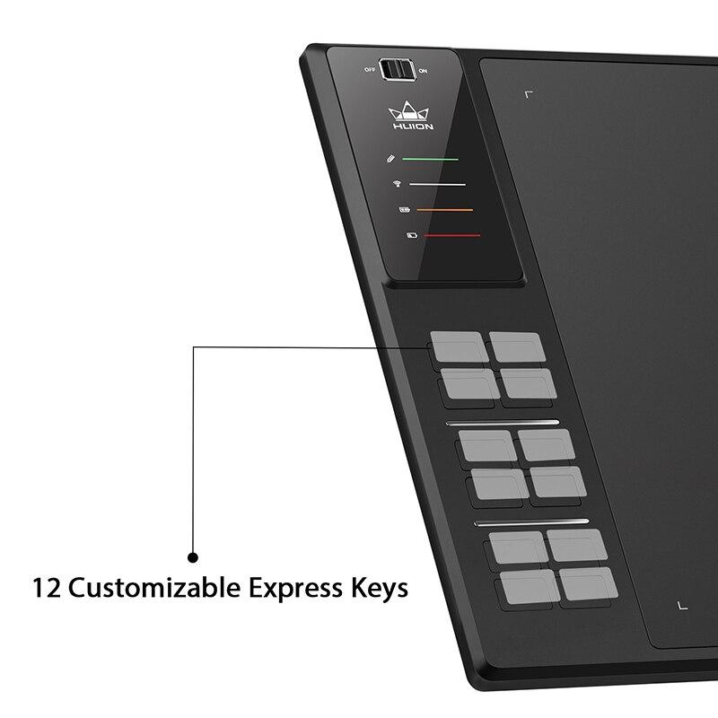 Image 5 - HUION Giano WH1409 V2 bezprzewodowy Tablet graficzny do rysowania pióro cyfrowe Tablet funkcja pochylenia bezbateryjny rysik z 8192 poziomamiCyfrowe tablety   -