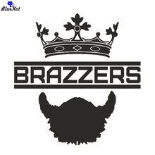 CS-010#20*20cm crown and brazzers cool car sticker decal for rear window/bumper auto stickers removable