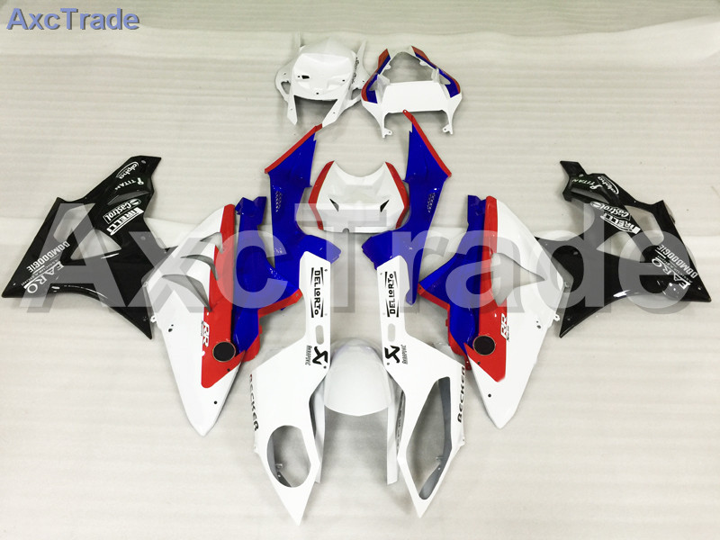 Motorcycle Fairings Kits For BMW S1000RR S1000 2015 2016 15 16 ABS Plastic Injection Fairing Bodywork Kit Blue White A446 motorcycle blue bodywork kit fairing for bmw s1000rr s 1000 rr s 1000rr 2015 15 injection mold fairings cowl set uv painted