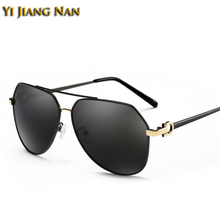 Yi Jiang Nan Brand Design Classic Fashion Alloy Full Rim Large Frame Sunglasses Men Polarized UV400 Gafas De Sol De Los Hombres alcázar sánchez nuevos hombres classic reprint