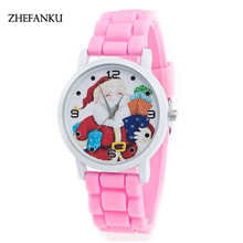 10 Colors Kids Watch Kids Santa Clause Watch Christmas Best Gift Silicone Watch New Fashion Watch Children Girl Montre Enfant