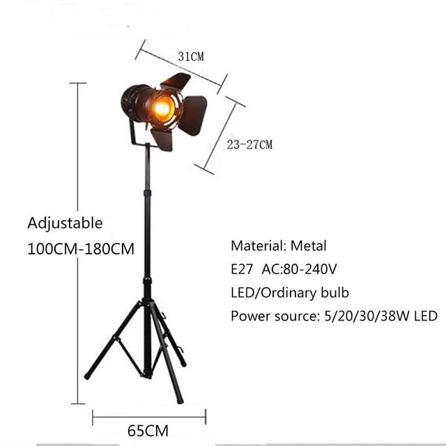 Tripod Single Head Floor Lamp  2