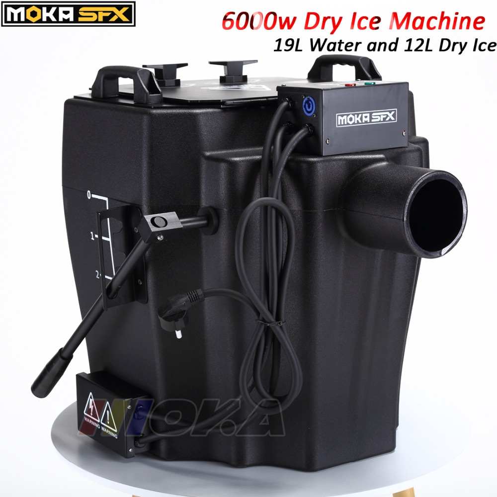 цена 6000w dry ice machine with Flight case and smoke nozzle Stage Effect Dry Ice Machine Low Ground Smoke Machine For DJ Party Event