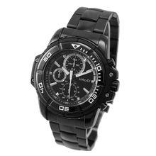 цена на ALEXIS New Black Dial Black Stainless Steel Band Round Black Watchcase Mens Quartz Watch FW872A
