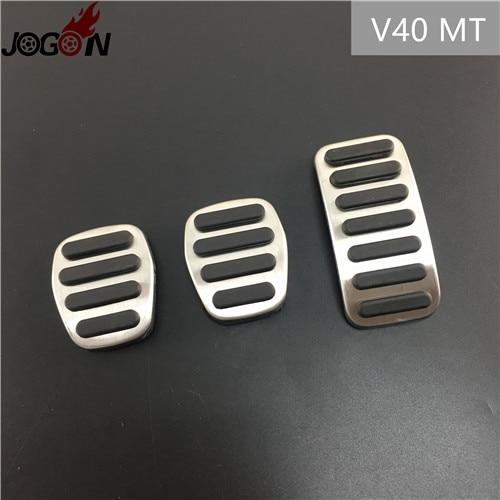 Для Volvo XC60 S60 V60 S80 XC90 S90 V90 XC40 V40 S40 C30 газовый топливный ускоритель сцепления педаль тормоза Накладка на MT - Название цвета: V40 MT