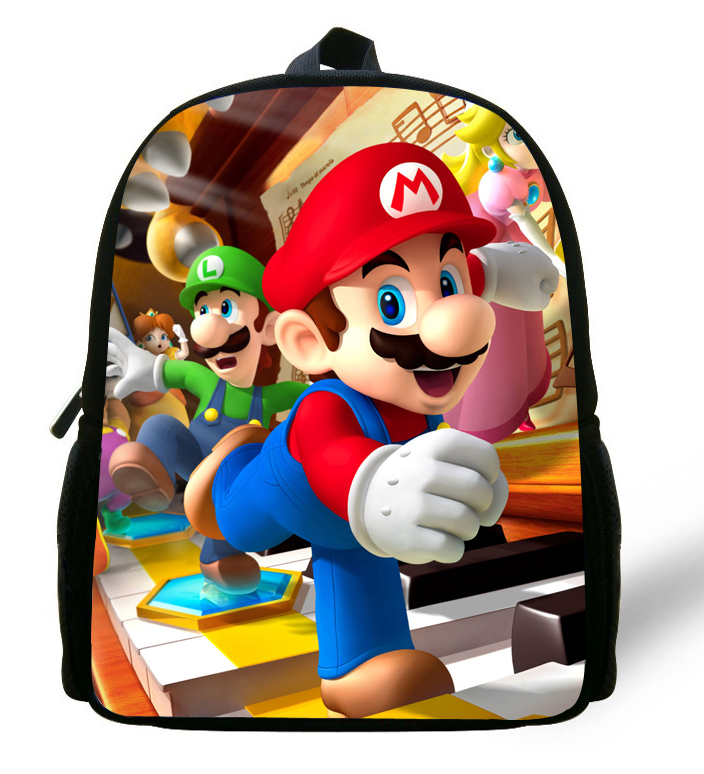 12-inch Cartoon Mochila School Kids Super Mario Bag Mini Boys Bag Children School Backpacks For Girls Kindergarten Age 1-6