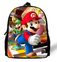 цена на 12-inch Cartoon Mochila School Kids Super Mario Bag Mini Boys Bag Children School Backpacks For Girls Kindergarten Age 1-6