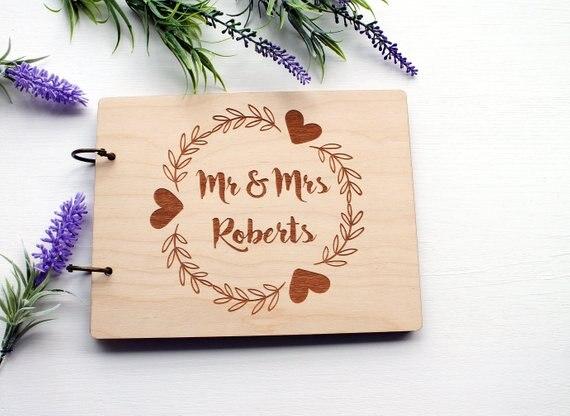 Aliexpress  Buy Modern Custom Engrave Wedding Guest Book