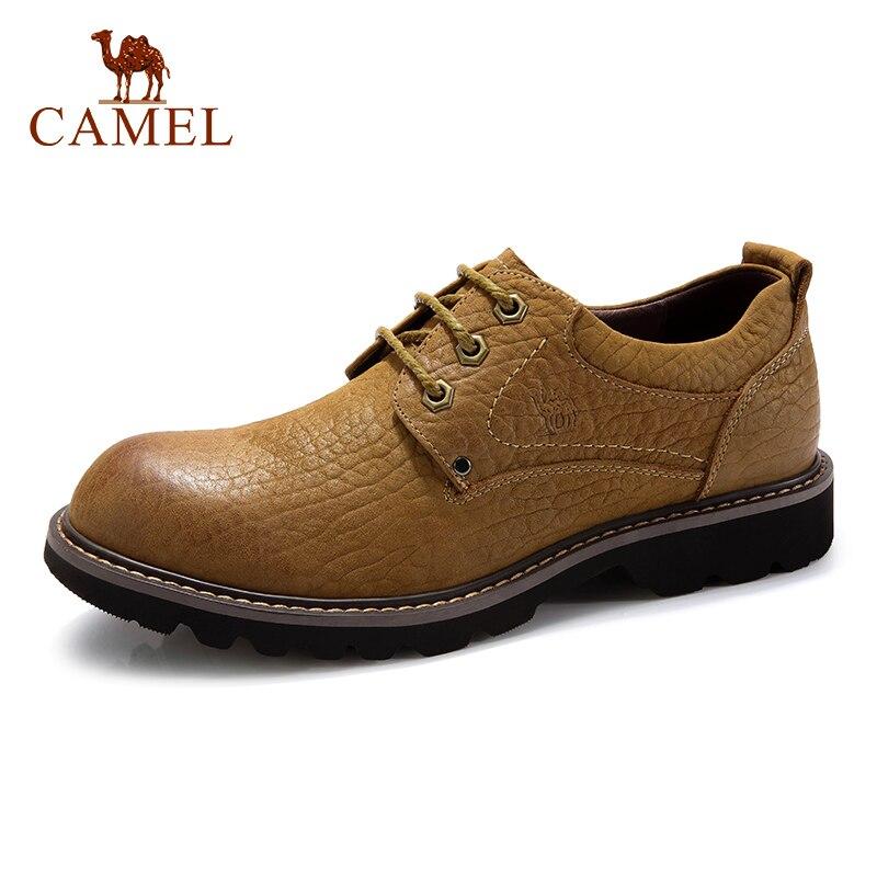 KAMEL Herbst Retro Männer Schuhe Mode Lässig Werkzeug Schuhe Aus Echtem Leder Haut freundliche Falten beständig Kuh Leder Schuhe männer-in Freizeitschuhe für Herren aus Schuhe bei  Gruppe 1