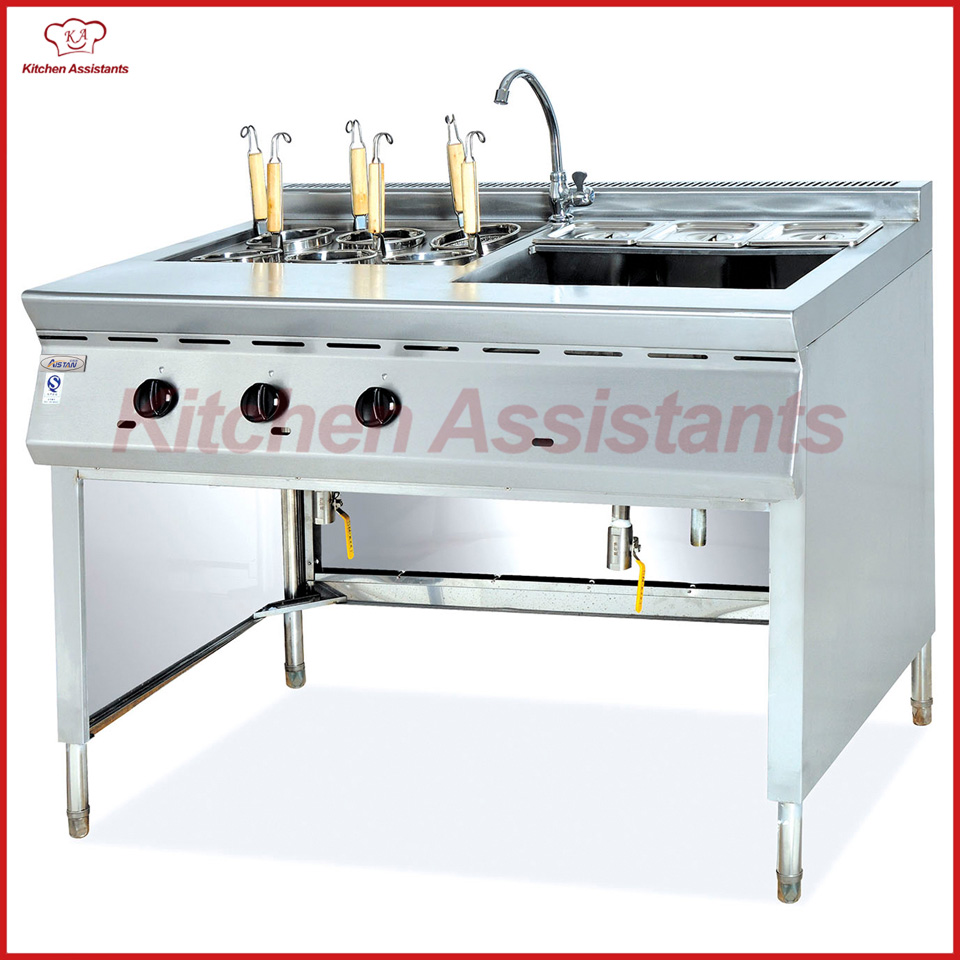 GH1176 gas convection pasta cooker and bain marie pkjg gh776 gas convection pasta cooker 6 pan for commercial kitchen