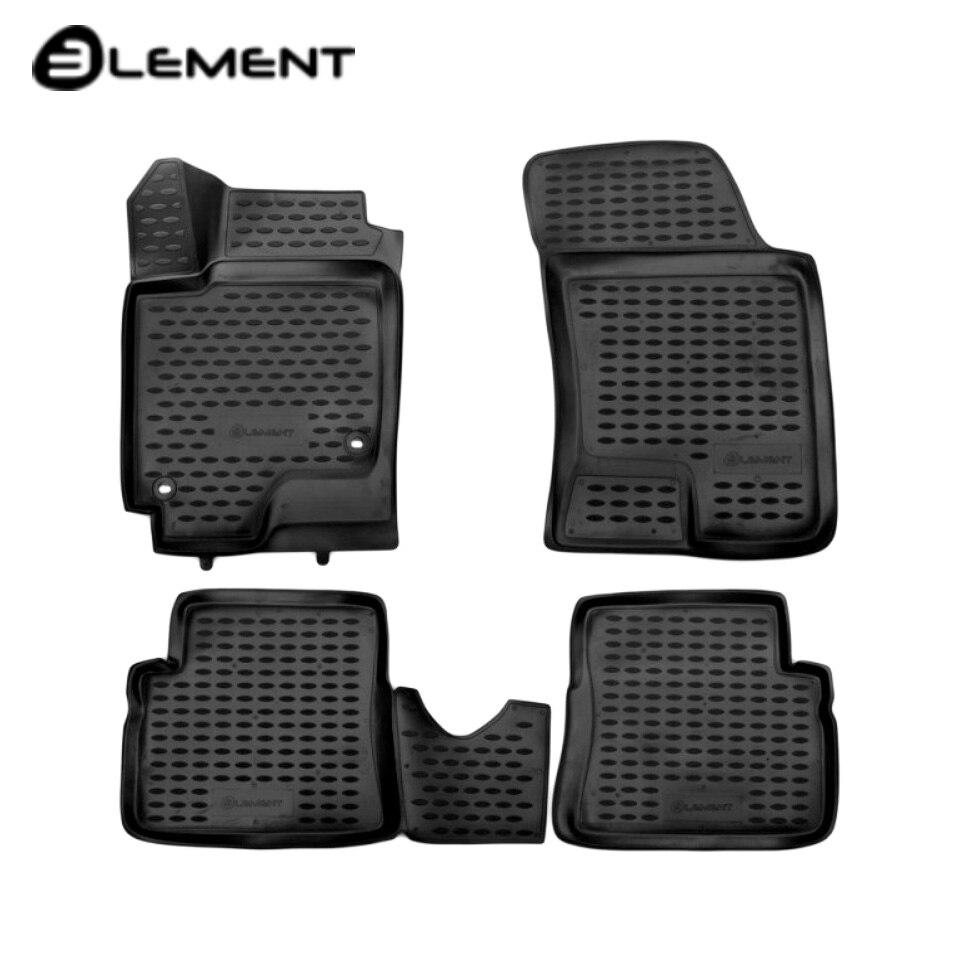 For Hyundai Getz 2002-2011 3D floor mats into saloon 4 pcs/set Element NLC3D2008210K for toyota corolla e120 2002 2007 floor mats into saloon 4 pcs set element nlc4803210k