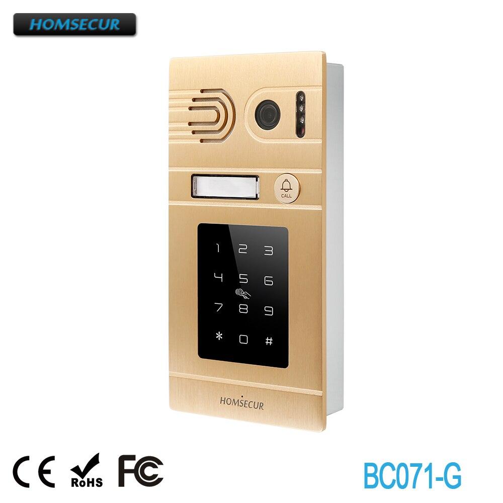 Güvenlik ve Koruma'ten Kapı Telefonu'de HOMSECUR Açık Kamera BC071 G Için HDK Görüntülü Kapı Telefonu Sistemi title=
