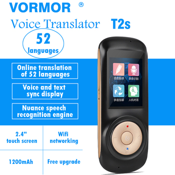 Portable Smart Voice translator  T2S 70 languages two-way Real Time Multi-Language translator free shipping