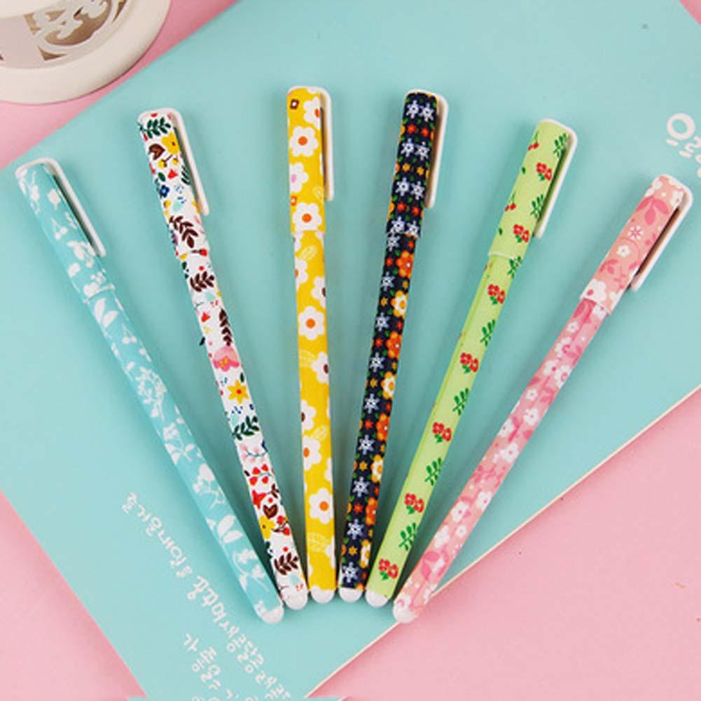 6 pcs/set Cute pens 0.38mm ballpoint pens Black color gel pe