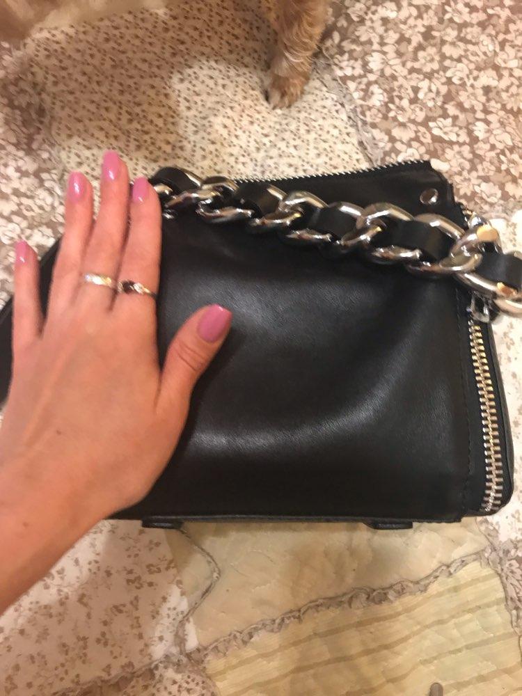 Autumn Winter Fashion Chain Genuine Leather Women Shouder Bag Small Size Female Messenger Bag Designer Brand Famous Tote Handbag photo review