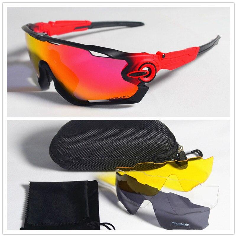 2018 Polarizzati In Bicicletta occhiali da sole Ciclismo occhiali occhiali Bicicletta Corsa e Jogging di Pesca Occhiali Da Sole di sport bicicleta Gafas ciclismo 4 pz Lente
