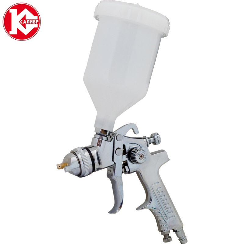 Kalibr KRP-1.4/0.6VBMN Pneumatic Spray Paint Gun Mini Air Brush Sprayer Painting Tools 120 atten at 858d smd hot air rework station hot blower hot air gun heat gun