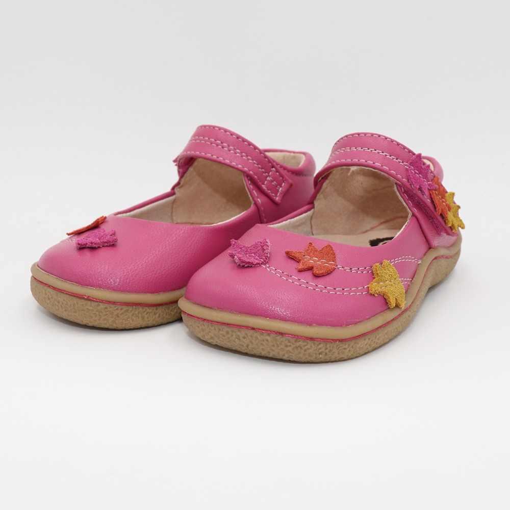 Dzieci buty boso maluch prawdziwej skóry dla dzieci dziewczyny Sneaker Sport dorywczo płaskie minimalistycznym kwiaty