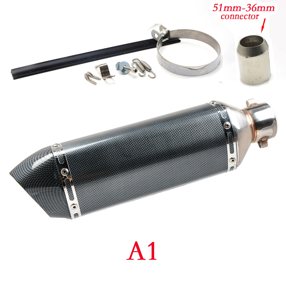 Dirt bike Inlet 51mm exhaust muffler pipe with db killer 36mm connector For SUZUKI DR DRZ RMX DJEBEL 400E 400S 400SM 450Z 650SE