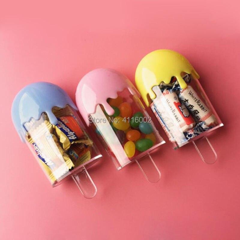 120 stücke schöne popsicle form candy box kinder kinder geburtstag party-baby-dusche kunststoff geschenk boxen