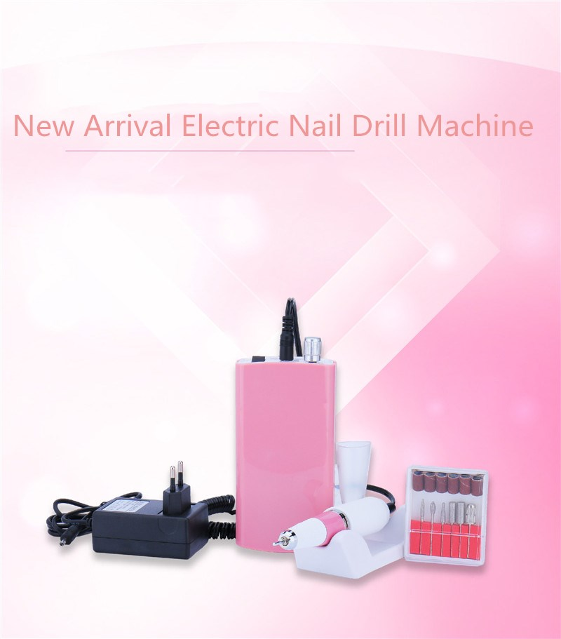 Electric Nail Drill Manicure Machine 18W 30000RPM Nail Drill Manicure Set Pedicure Kit Rechargeable Nail Art