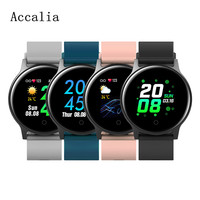 Accalia W13 smart watch GPS activity fitness tracker set exercise goal heartrate monitor IP68 waterproof smartband for man&woman