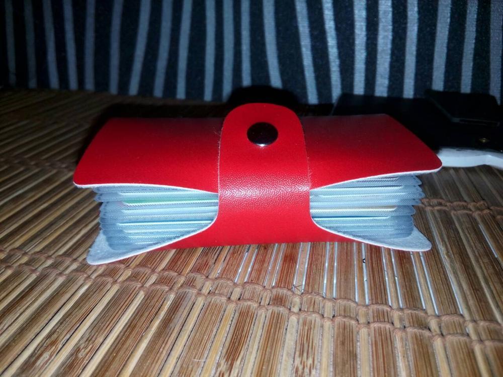 Sleeper #5002 Men Women Leather Credit Card Holder Case Card Holder Wallet photo review