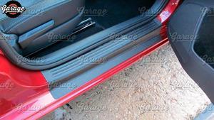 Image 2 - ガードカバードア敷居シュコダ 2013 2018 abs プラスチックパッドアクセサリー保護プレート傷車のスタイリングチューニング