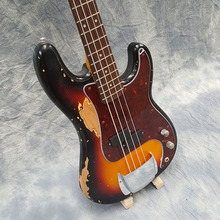 Galilee,relic p-bass,4string bass guitar,High price, high quality,Real photo display,free shipping!!!