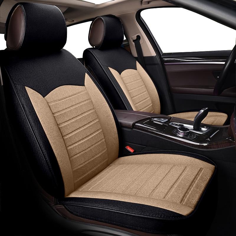 KOKOLOLEE High-quality flax car seat covers For Skoda Octavia 2 a7 a5 Fabia Superb Rapid Yeti super car-styling auto accessories стоимость