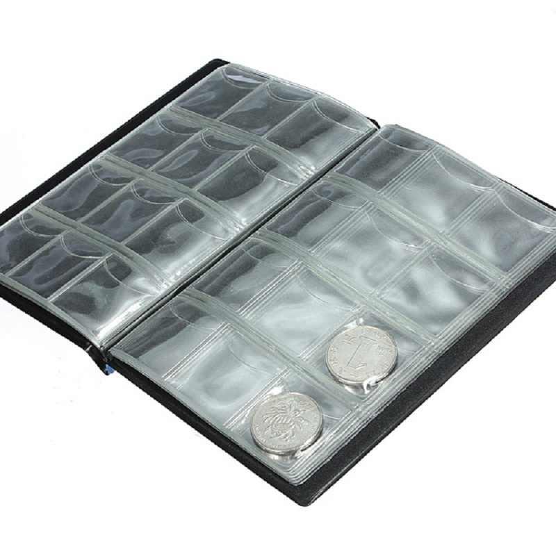Горячие 120 отверстия держатели для монет Альбом для коллекции Деньги Пенни органайзер, сумка для хранения милые случайные много цветов Мода Стиль
