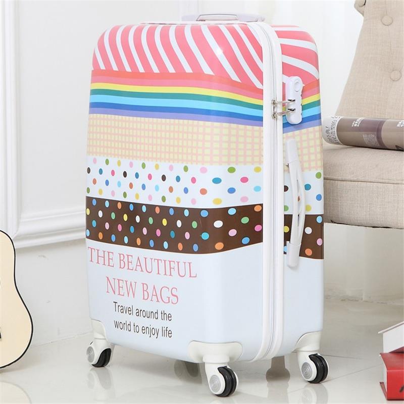 Bavul Valise Enfant Mala Resväska Med Hjul Koffer Färgrik Maleta - Väskor för bagage och resor - Foto 3