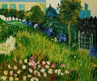 High quality Oil painting Canvas Reproductions The Garden of Daubigny by Van Gogh Painting hand painted
