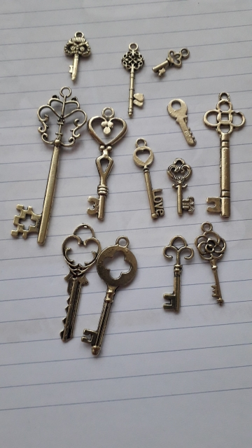 Antique Bronze Keys 13Pcs photo review
