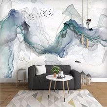 Artistic concept abstract ink landscape background wall high-grade cloth manufacturers wholesale wallpaper mural photo