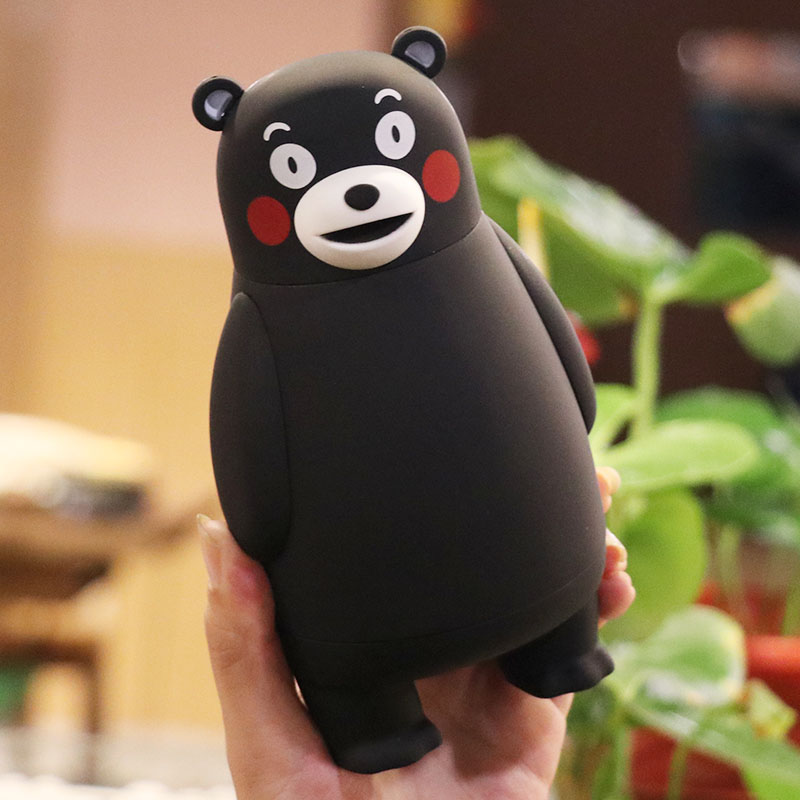 Cute Mini Thermos Cup Kumamoto Bear Lovely Stainless Steel Mug Travel Vacuum Flask Cup 280ml Christmas Gift for Kids
